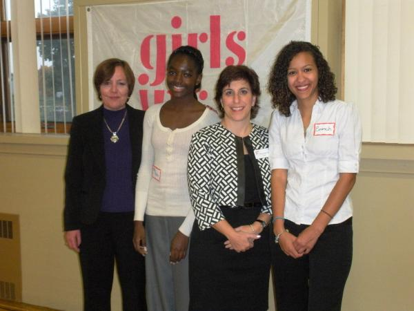 From Right to Left: Deb Hopkins, Yaa Poku, Victoria Waterman and Emmah Parks